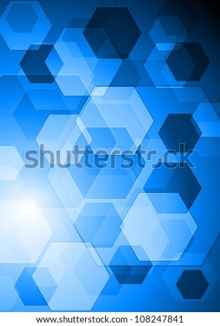 Abstract technology design. Vector background - stock vector