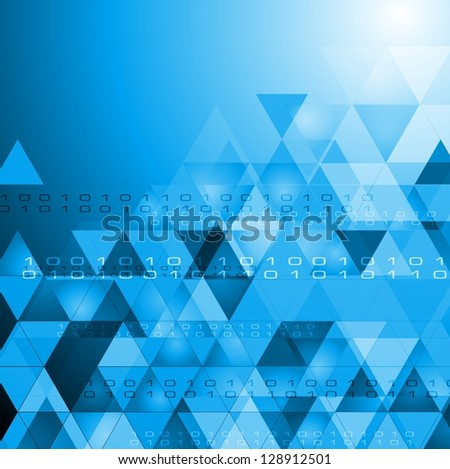 Abstract technology design with triangles. Vector backdrop eps 10 - stock vector