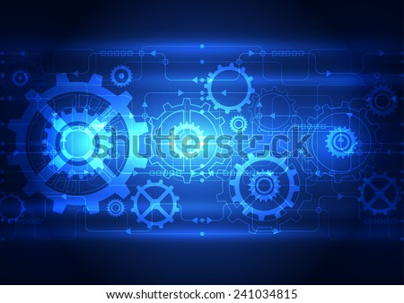 Abstract technology digital concept background, vector illustration - stock vector