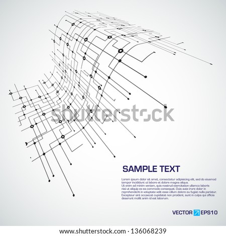 Abstract technology electronic circuit - stock vector