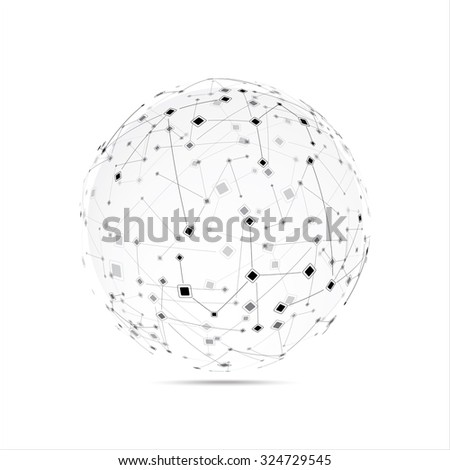Abstract technology globe - stock vector