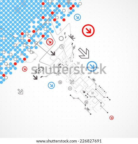 Abstract technology halftone background