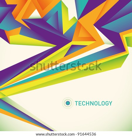 Abstract technology layout. Vector illustration. - stock vector