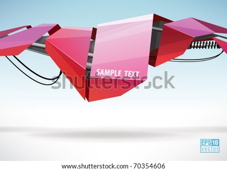 Abstract technology lines, eps10 vector - stock vector