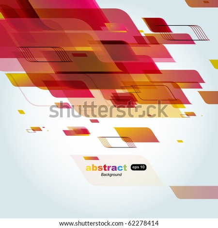 Abstract technology lines vector background - stock vector