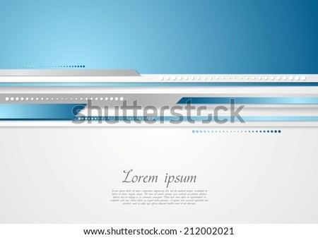 Abstract technology stripes design. Vector background - stock vector