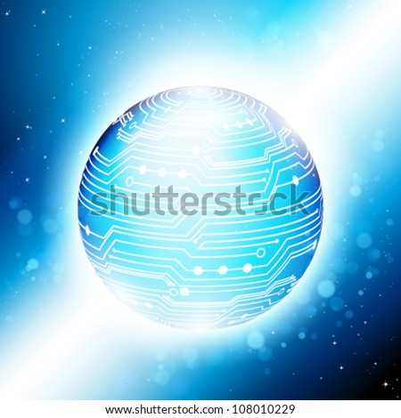 Abstract technology vector background. Eps 10.