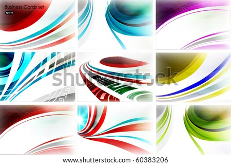 Abstract technology vector background set - stock vector