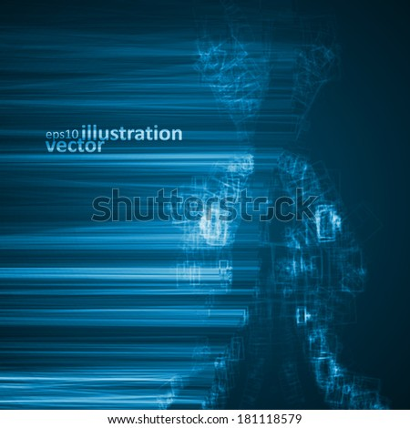 Abstract technology, vector futuristic illustration eps10, creative dynamic element. - stock vector