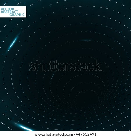 Abstract teleportation futuristic illustration, creative dynamic element, vector eps10 - stock vector