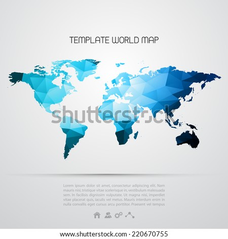 Abstract template background with color map - stock vector