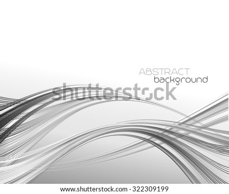 Abstract template background with curved wave.  Wavy lines.