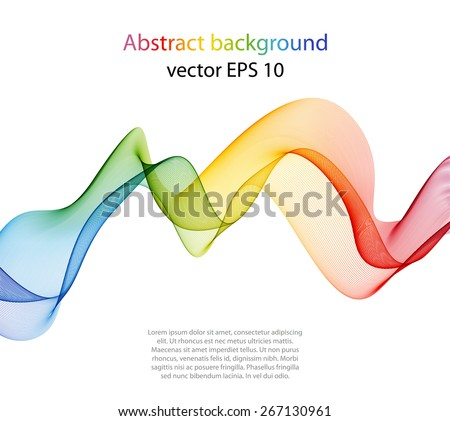 Abstract template background with wave lines