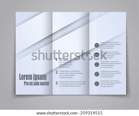 Abstract template brochure for design. vector - stock vector