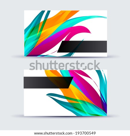 Abstract template card for business artwork .  - stock vector
