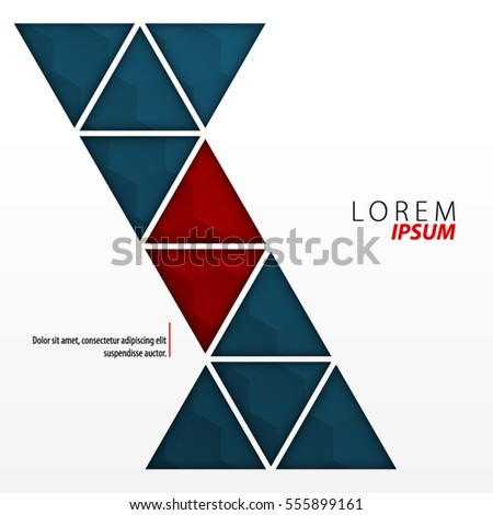 Abstract Template Clean Minimal Style Modern Stock Vector 555899161 ...
