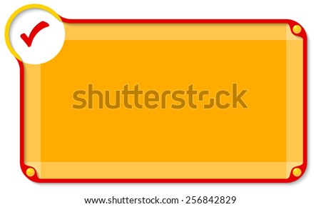 abstract text box for entering text and check box - stock vector