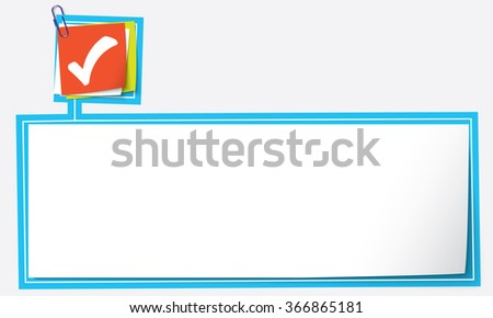 Abstract text frame for your text and check box - stock vector