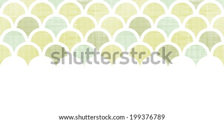 Abstract textile green fishscale horizontal seamless pattern background - stock vector