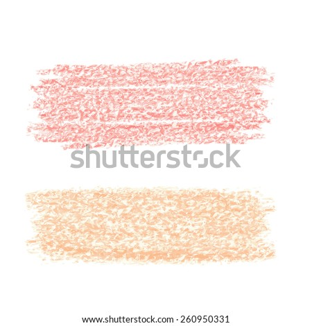 Abstract texture made with pastel chalks and examples of colors - stock vector