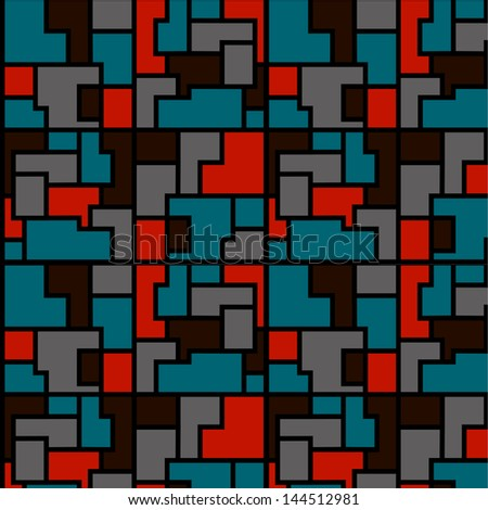 Abstract texture of color elements. Vector art