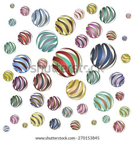 abstract texture texture of the balls big  - stock vector