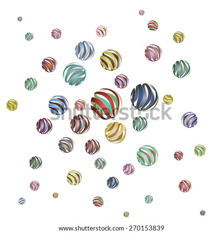 abstract texture texture of the balls volume - stock vector