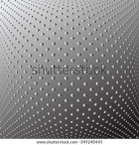 Abstract textured convex background. Dotted pattern. Vector art. - stock vector