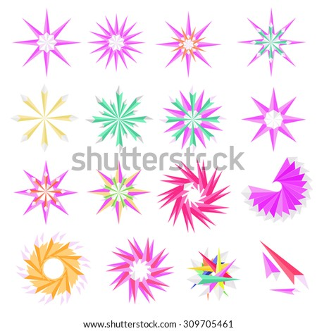 Abstract  the  polygon for star on white background