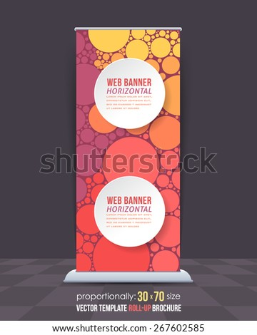 Abstract Theme Business Roll-Up Banner Design, Advertising Vector Template  - stock vector