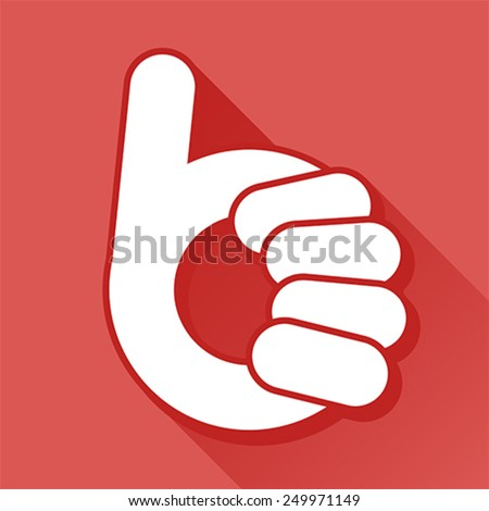 abstract thumb up- like symbol, vector  - stock vector