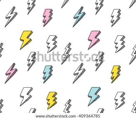 abstract thunder background - stock vector