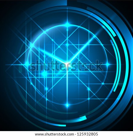 abstract time concept background - vector - stock vector