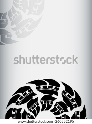 abstract tire background - stock vector