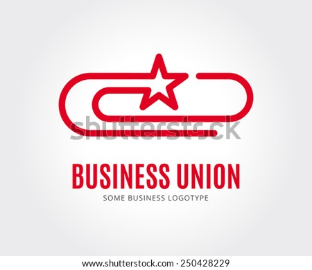 Abstract together union logo icon template. Communication, globe, star, creative, circle, together concept, business team or command. Business logotype for branding and company design.  - stock vector