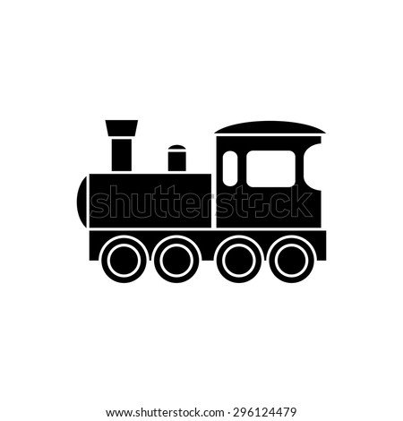 abstract train silhouette on a white background