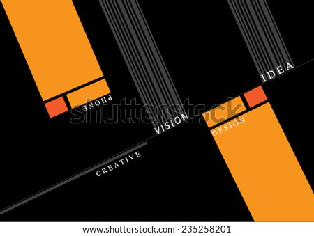 Abstract Transparent clear glass framework business card vector design template - stock vector