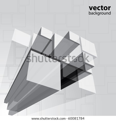 Abstract transparent grey background vector - stock vector