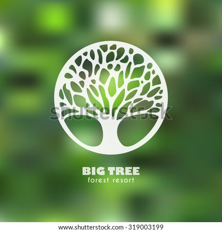 Abstract Tree Business sign vector template. Four seasons concept. Vector icon & corporate identity template for landscape design / architecture, natural organic product line labeling, recycle, garden - stock vector