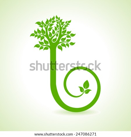 Abstract Tree Design - vector illustration - stock vector
