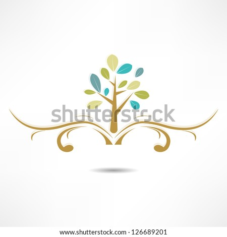 abstract tree icon - stock vector