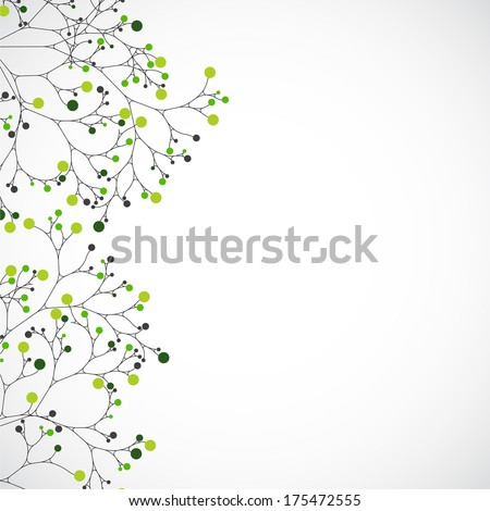 Abstract tree. Vector background - stock vector
