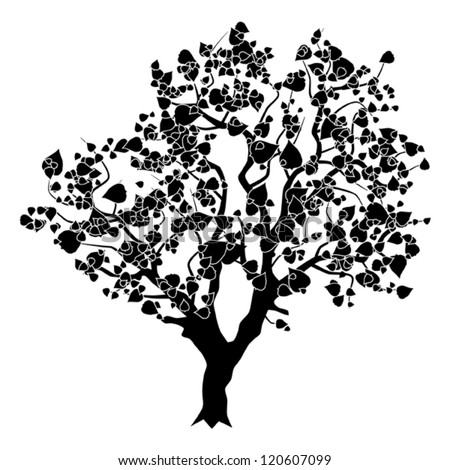 Abstract tree vector silhouette - stock vector