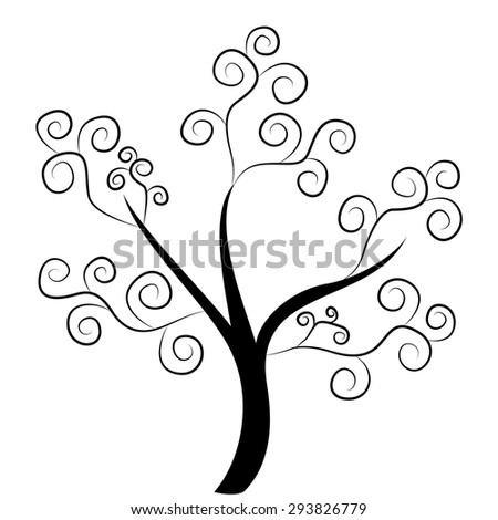 abstract tree vector silhouette