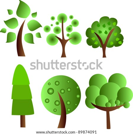 abstract trees - vector