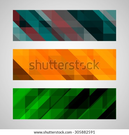 Abstract trendy  banner with geometric shape. Colorful background. Vector illustration. Eps 10 - stock vector