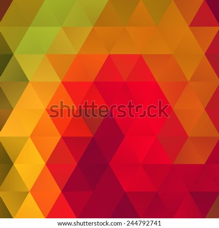 Abstract trendy colorful geometric triangle hipsters background. Ideal for gadgets backdrop or presentations. Fully editable vector. - stock vector