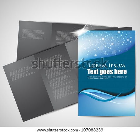Abstract Tri-fold brochure design (Vector EPS10) - stock vector