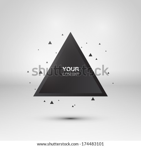 Abstract triangle background - stock vector