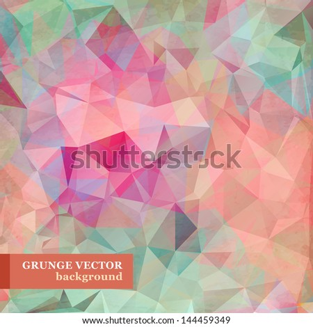 Abstract triangle background. Vector Illustration. - stock vector